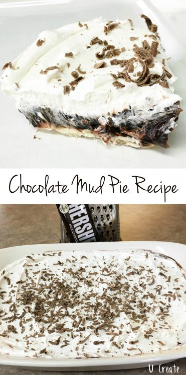 Chocolate Mud Pie Recipe - the easiest dessert! u-createcrafts.com