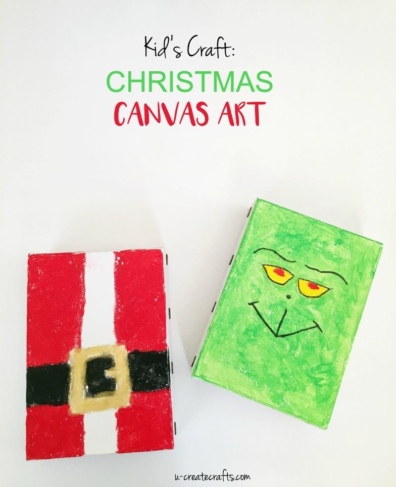DIY Christmas Canvas Art