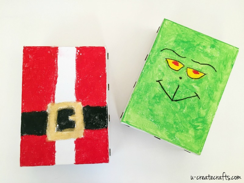 Kids Craft DIY Christmas Canvases