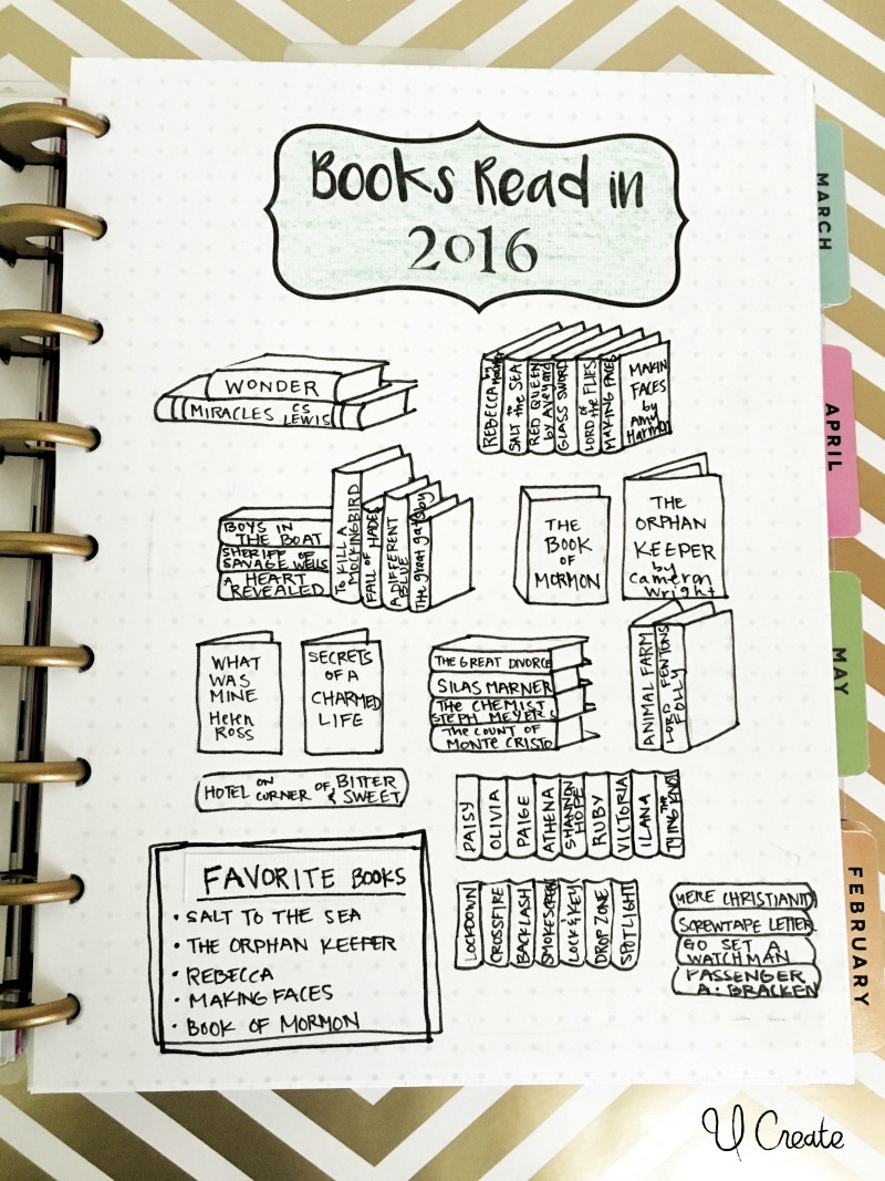 Books Read Printable for journals and planners!