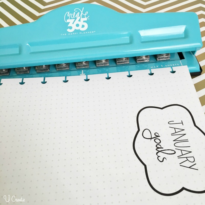 Happy Planner punch - add anything to your planner with this!