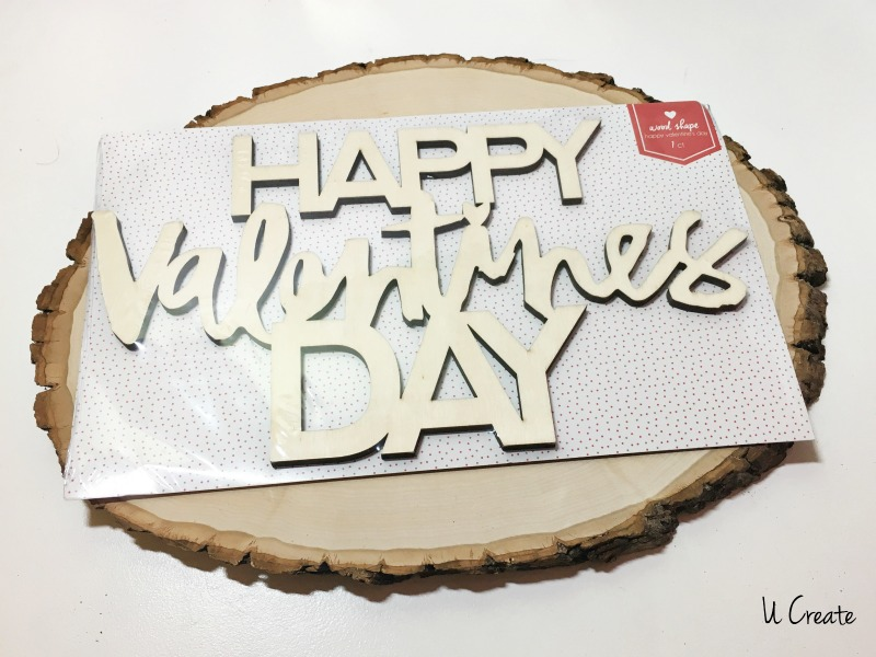 DIY Wood Slice Valentine Decor