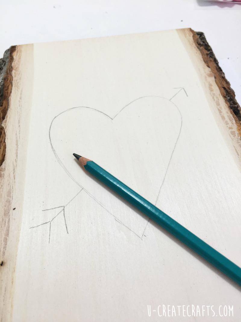DIY Wood Slice Valentine Tree by U Create