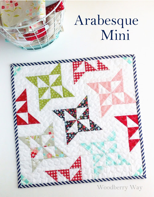 Arabesque Mini Quilt Tutorial
