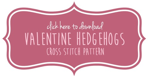Cross Stitch Hedgehog Pattern