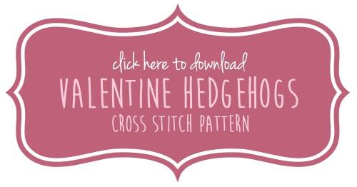 Cross Stitch Hedgehog Pattern