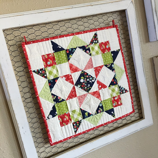 Carried Away Mini Quilt Tutorial