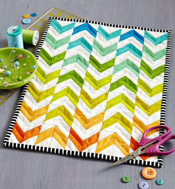 Chevron Mini Quilt Tutorial
