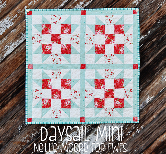 Daysail Mini Quilt Tutorial
