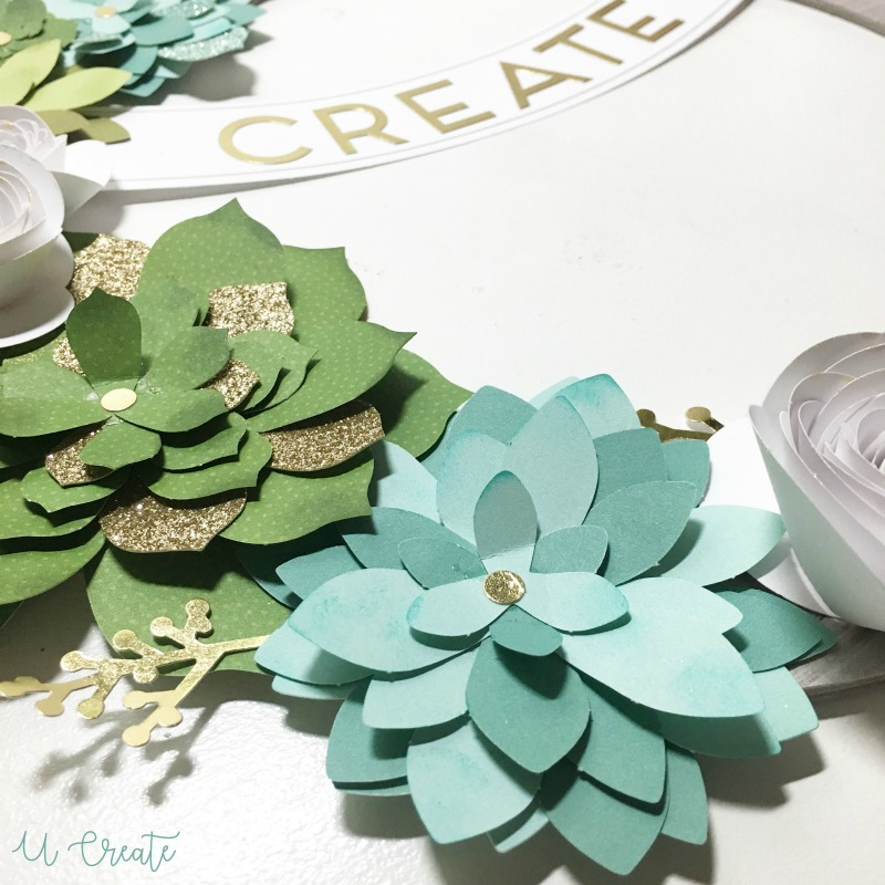 DIY Floral Wreath by Close to My Heart