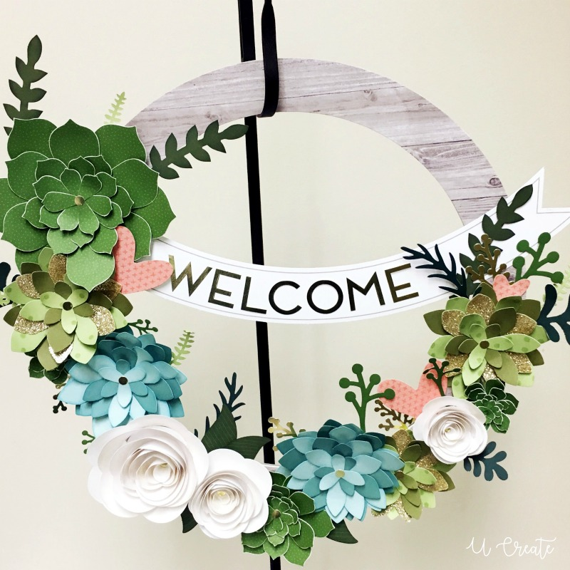 Floral Paper Wreath - win 10 kits!