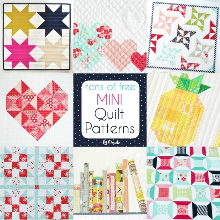 Tons of FREE MINI Quilt Patterns