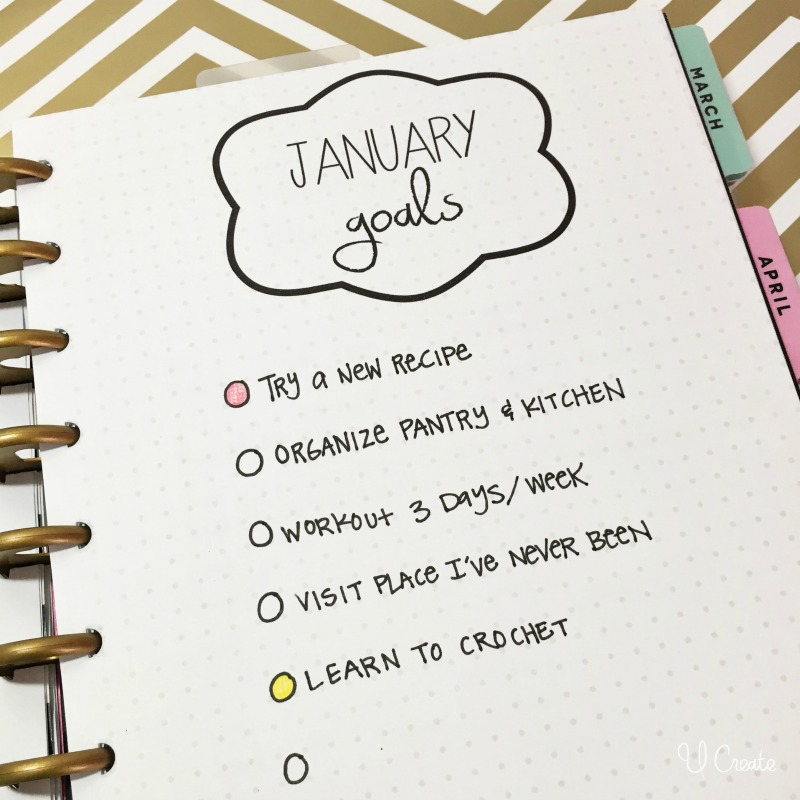 Monthly goal planner printables by U Create