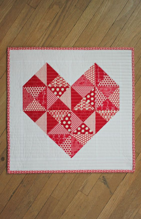 Quilted Heart Mini Tutorial