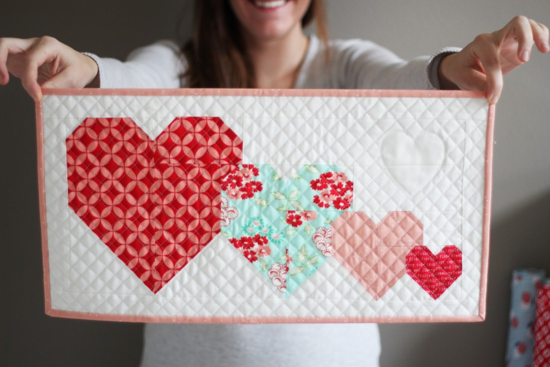 I Heart You Mini Quilt Tutorial