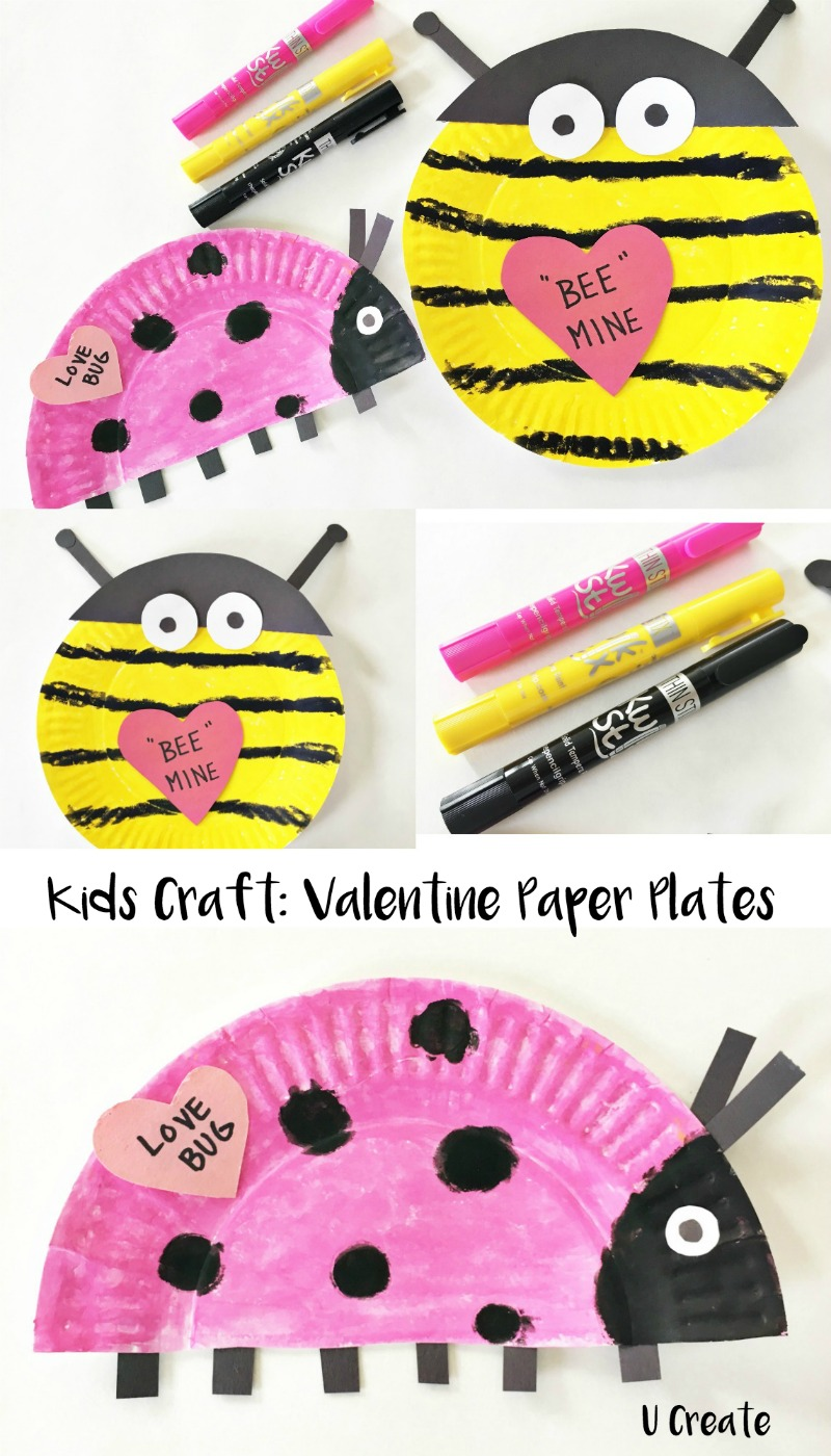 Kids Craft: Valentine Paper Plates by U Create