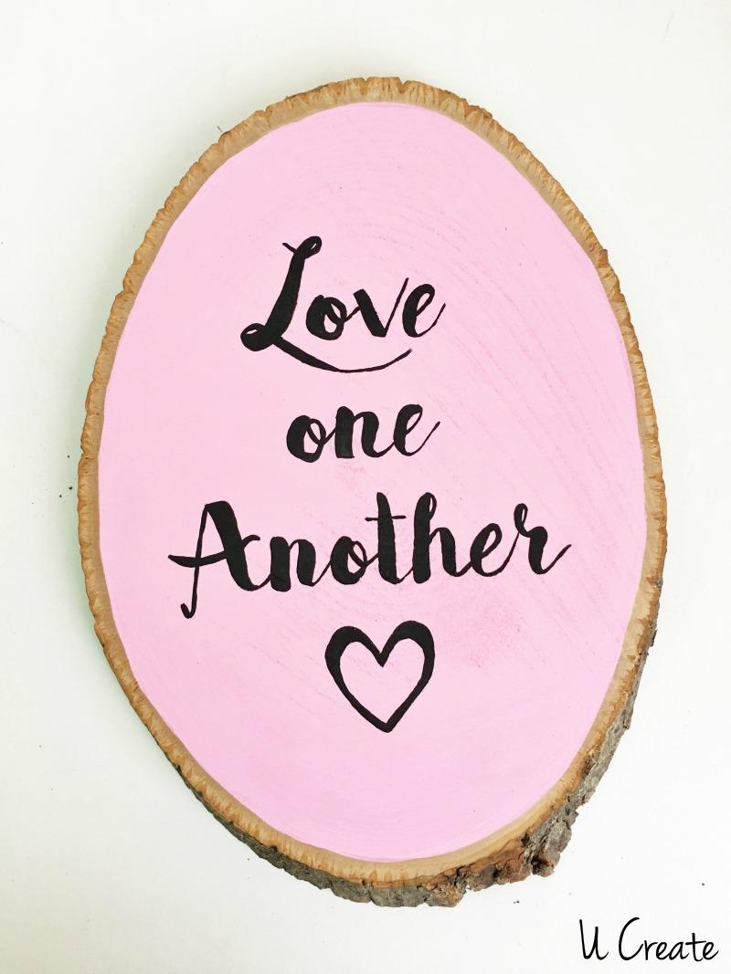 DIY Valentine Wood Decor Slices by U Create