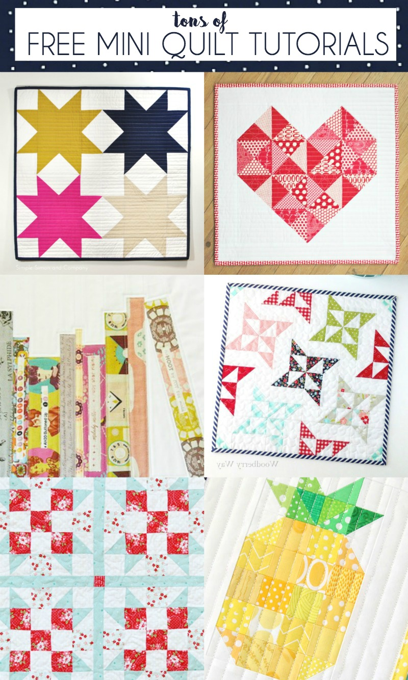 Tons of FREE MINI Quilt Tutorials at U Create