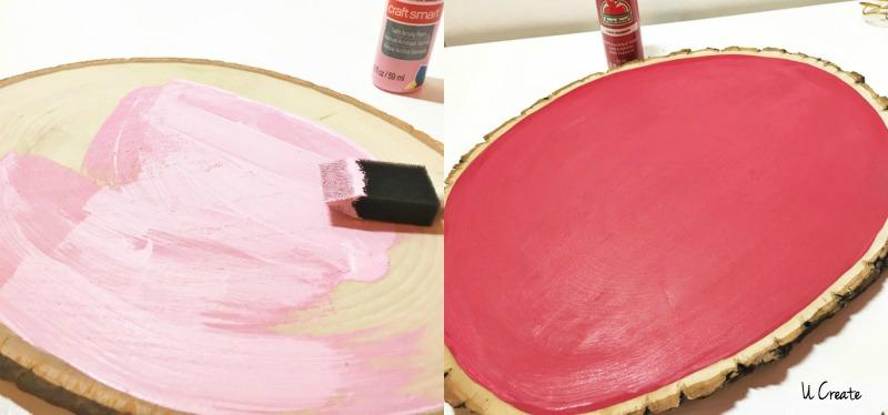 DIY Valentine Wood Slices by U Create