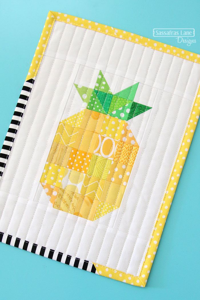 Pineapple Mini Quilt Tutorial