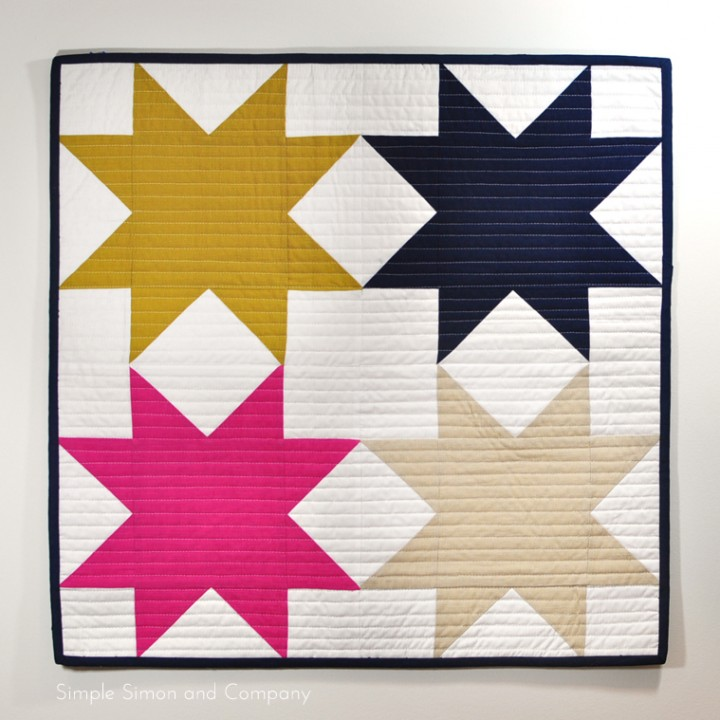 Sawtooth Star Mini Quilt Tutorial