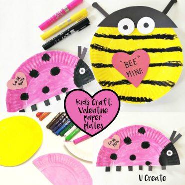 Kids Craft: Valentine Paper Plates by U Create