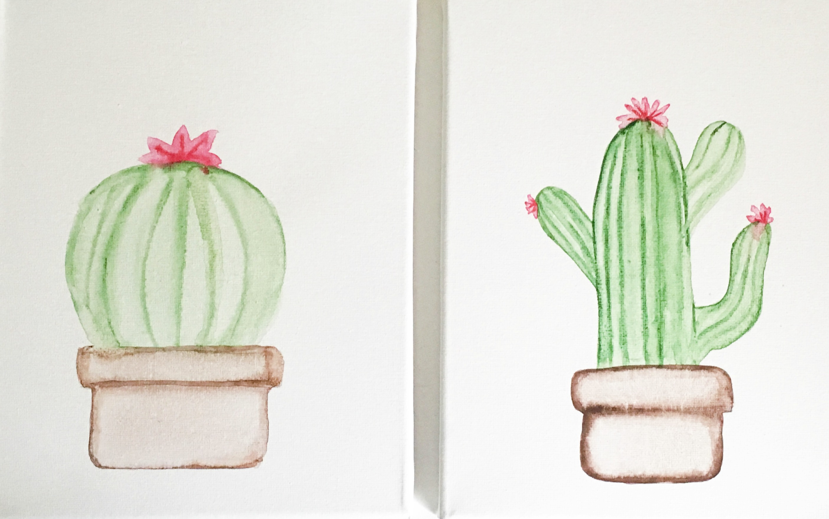 Watercolor Cactus Tutorial by U Create