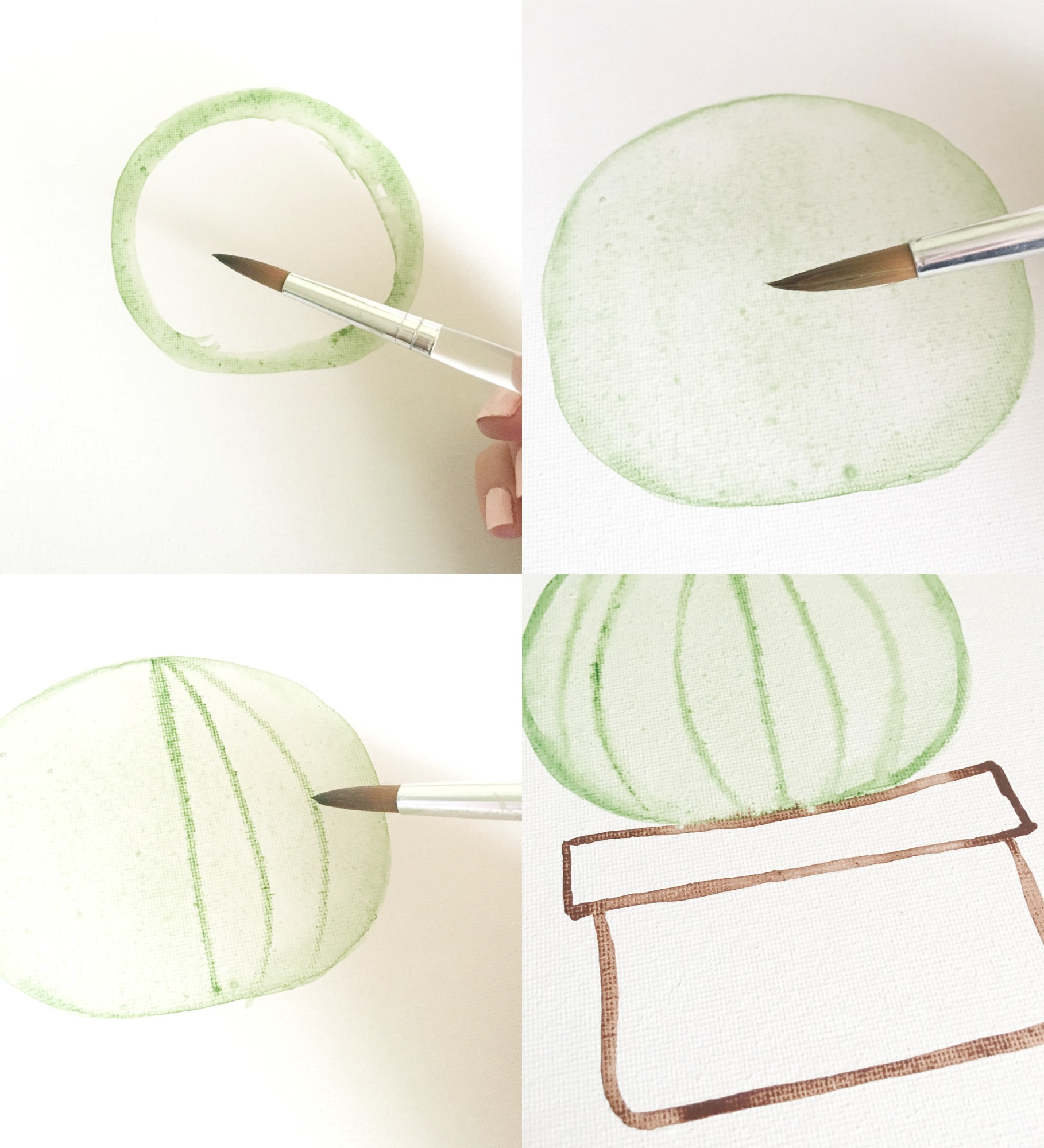 DIY Watercolor Cactus by U Create
