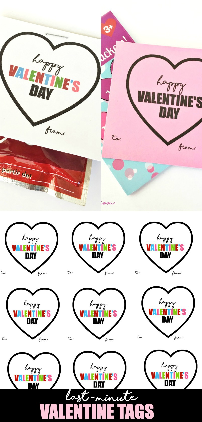 Last Minute Valentine Tags by U Create