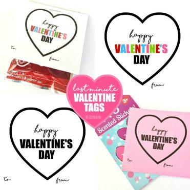 Last Minute Valentine Classroom Tag printables by U Create