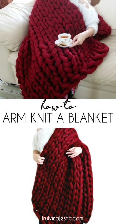 How to Arm Knit a Blanket by Truly Magestic