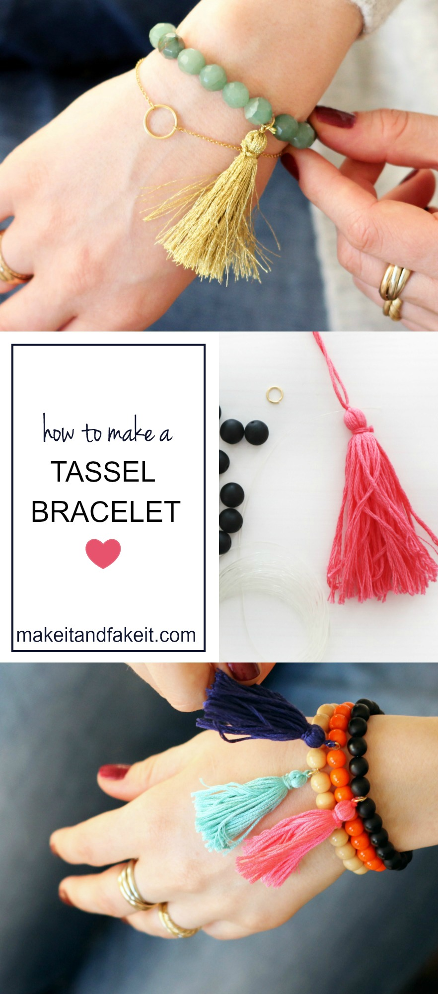 How to Make a Tassel Bracelet by Make It and Fake It
