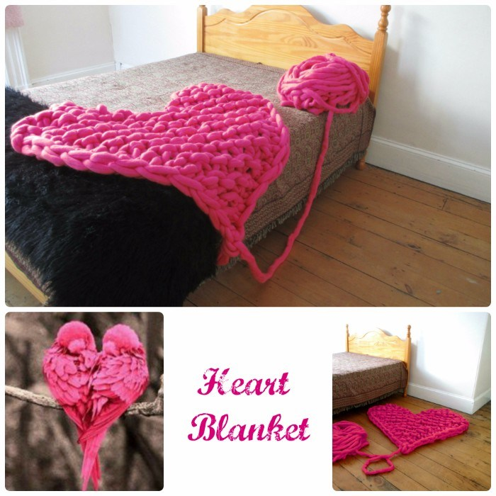 Heart Arm Knitting Blanket Tutorial