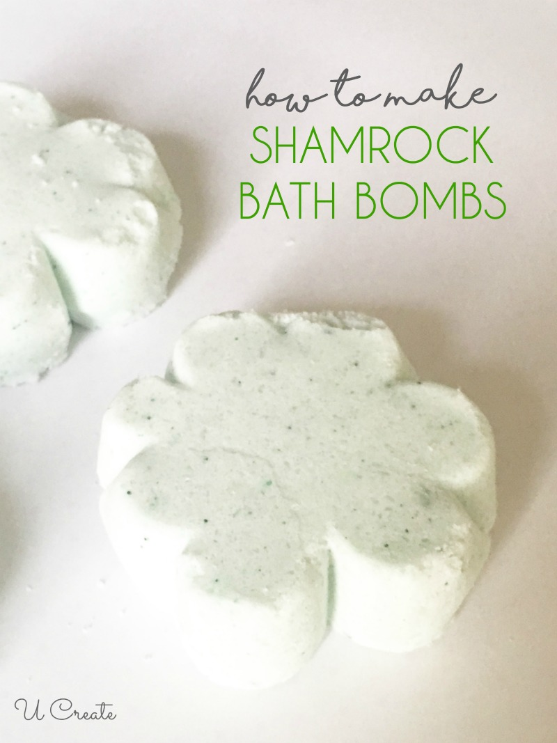 How to Make Shamrock Bath Bombs by U Create