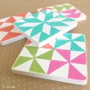 DIY Quilt Block Coasters