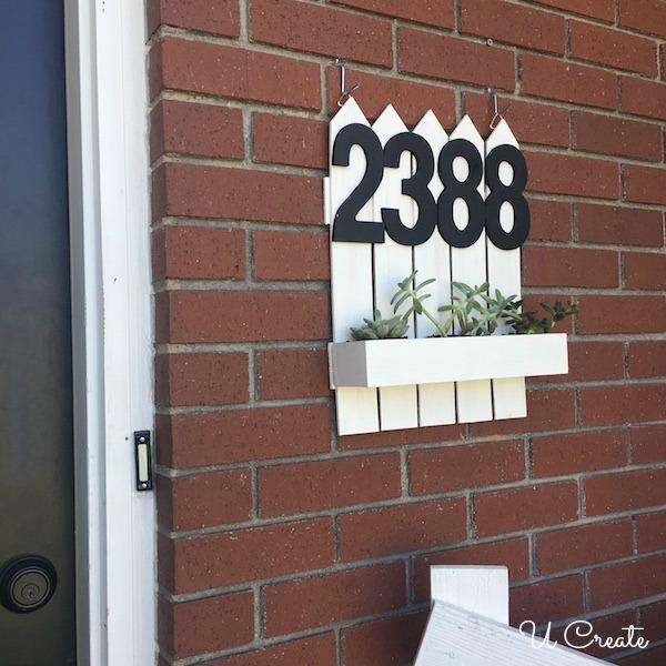 DIY Address Planter by U Create