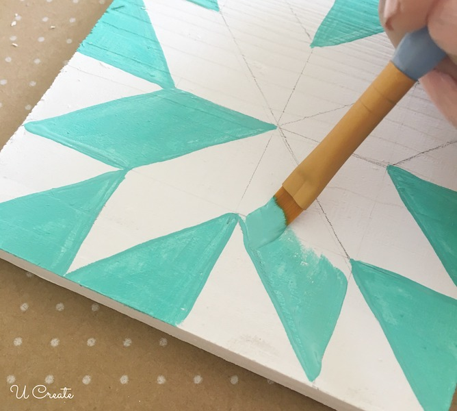 How to Paint Wooden Quilt Blocks