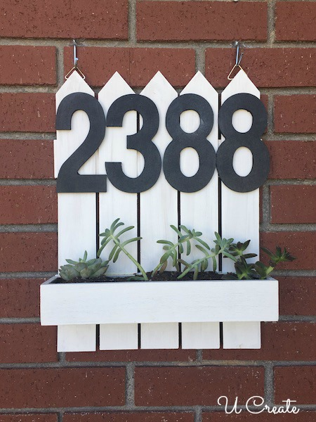 DIY Address Planter by U Create