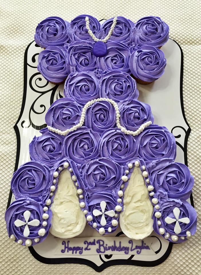 Pull Apart Dress Cake