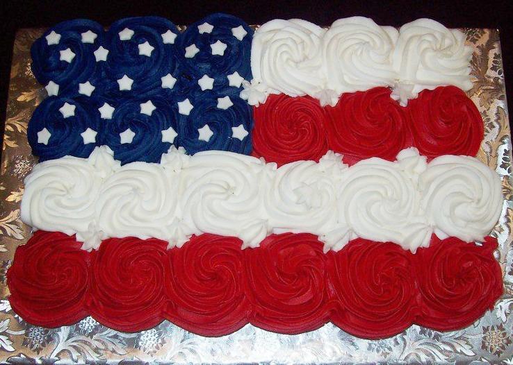 American Flag Pull Apart Cake