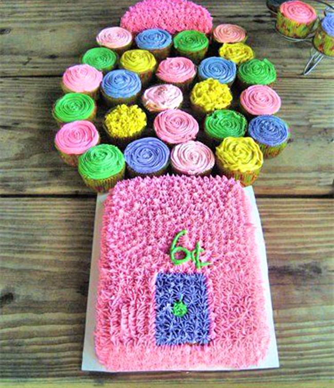Gum Ball Pull Apart Cake