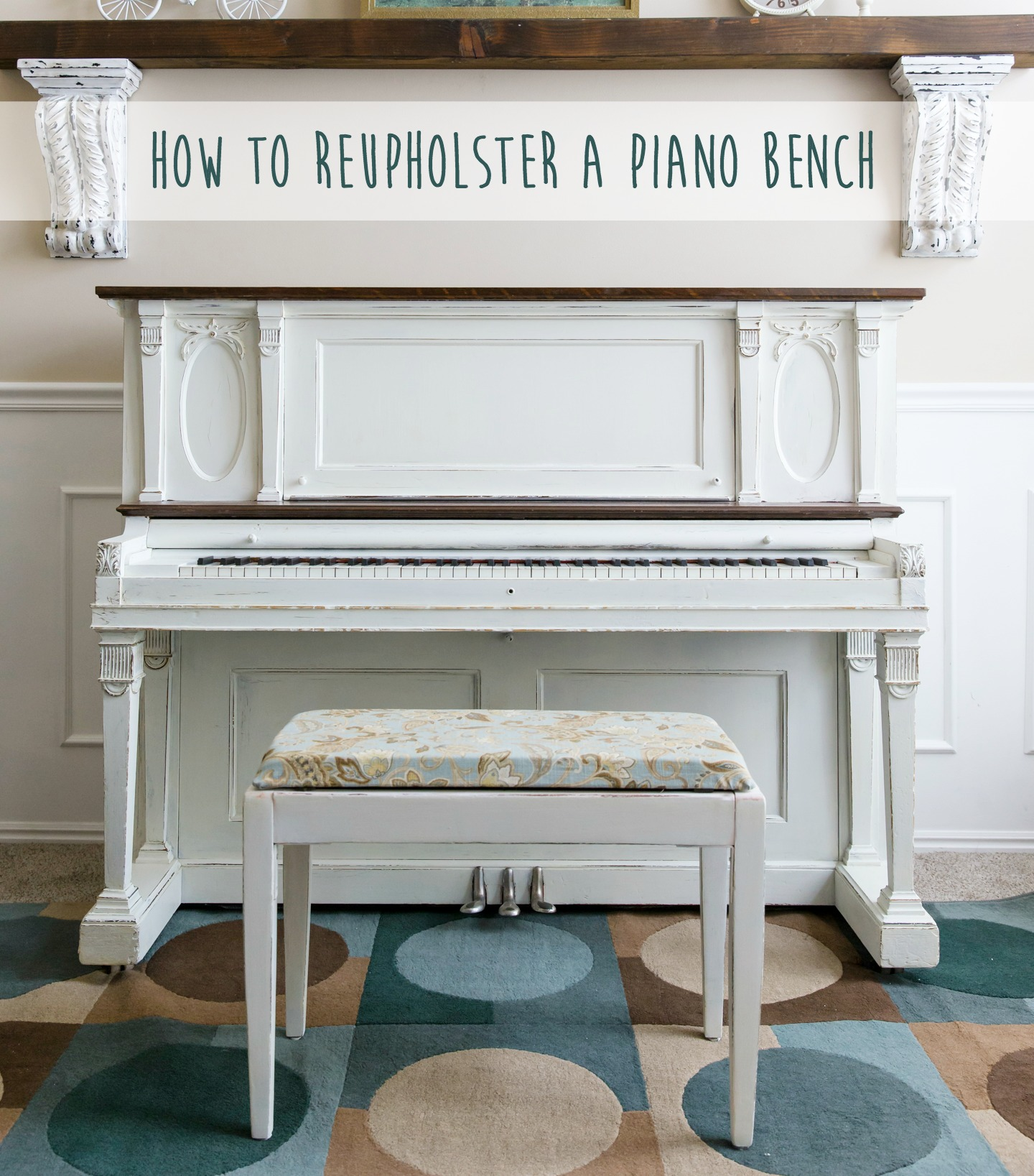 How to Reupholster a Piano Bench by U Create