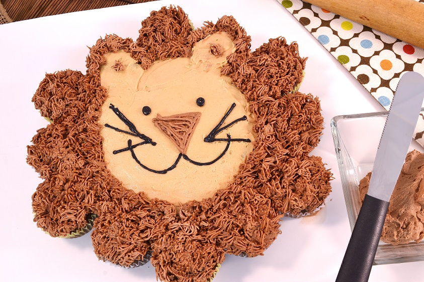 Lion Pull Apart Cake