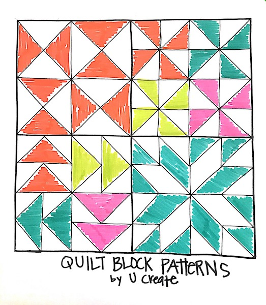 DIY Wood Quilt Block Coasters