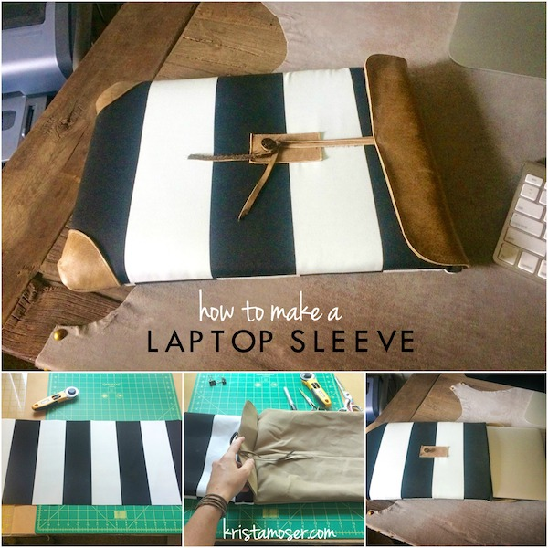 How to Make a Laptop Sleeve by Krista Moser