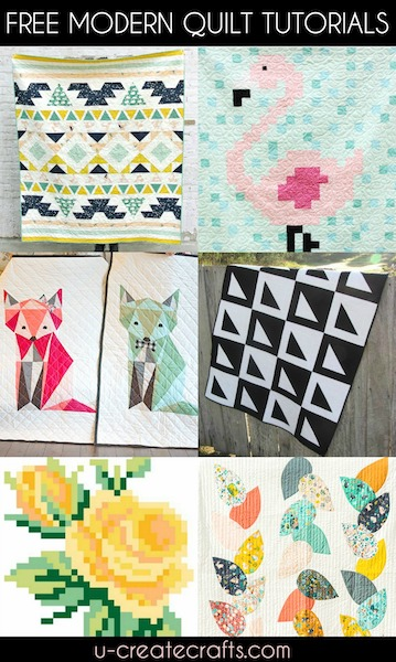 Free Modern Quilt Patterns - U Create : modern quilt tutorials - Adamdwight.com