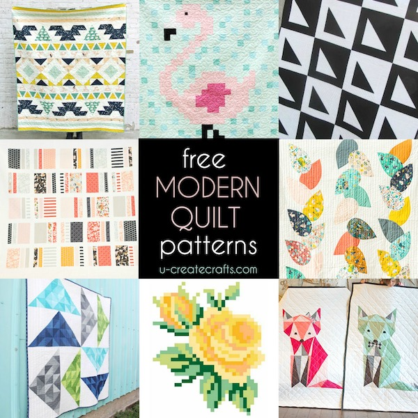 Free Modern Quilt Patterns - U Create : modern quilt design - Adamdwight.com