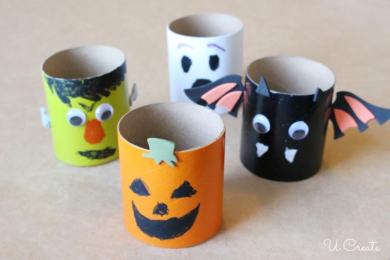 Kids Halloween Craft Tube Crafts by U Create
