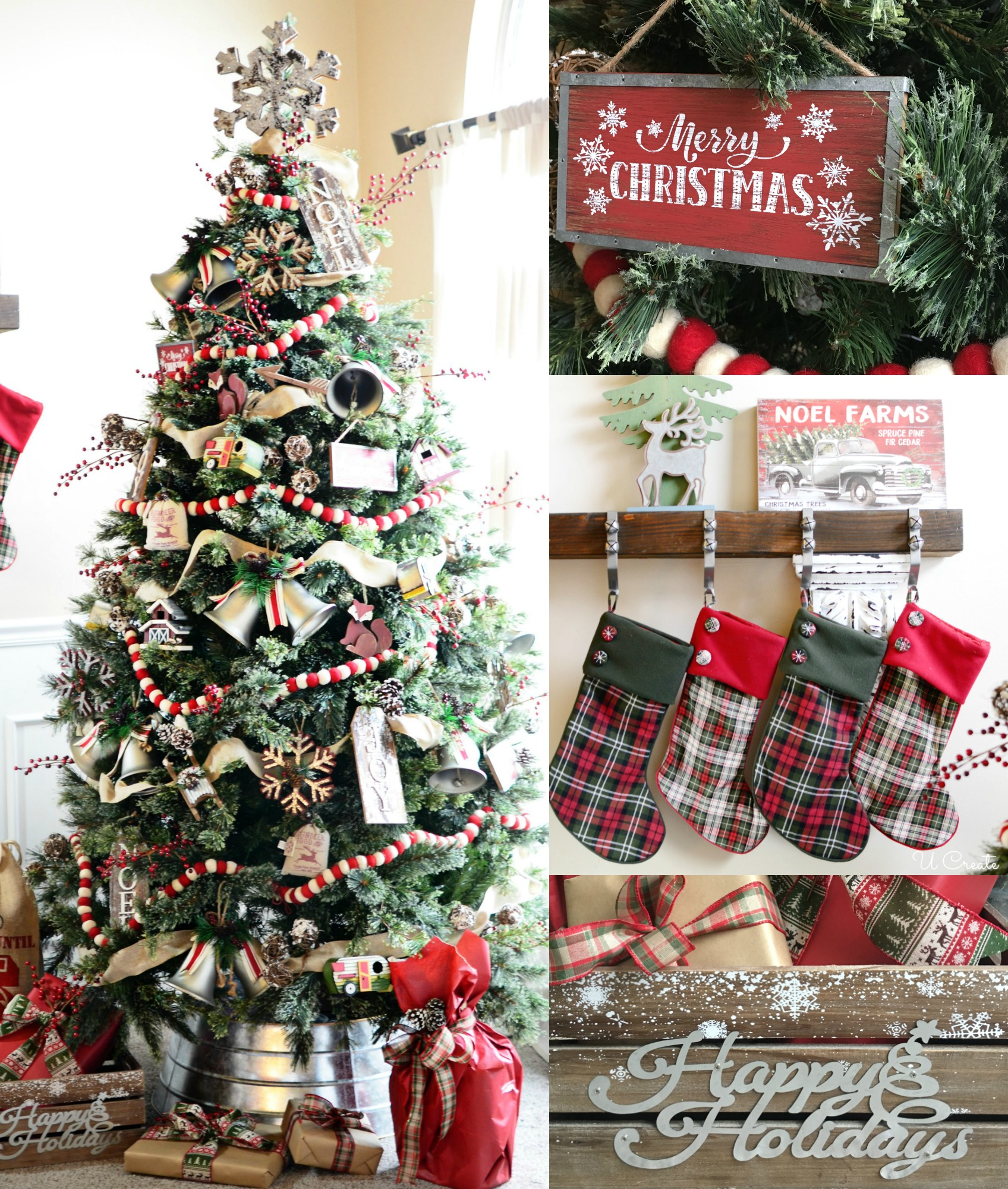 Country Christmas Tree.A Country Christmas Tree U Create