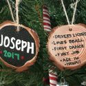 DIY Personalized Wood Slice Ornament